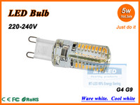 Wholesale X5 High Power LED Lamp SMD W V G4 G9 leds Replace W halogen bulb LED light lamp warranty years