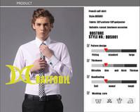 Long Sleeve french cuff shirt - Mans French cuff shirts fashion dress shirts striped DDS001