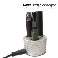 battery charger suits - 2013 Hot Sell High Quality eGo Stand eGo Holder e cig metal base ego ecig Vape Tray Charger Triple Holder suit eGo t evod eGo Q battery
