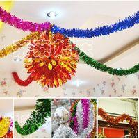 Wholesale 200PCS Christmas Decoration Colorful Ribbon Christmas Trees Adornment Wedding Party Ornament Mixed Colors cm Long