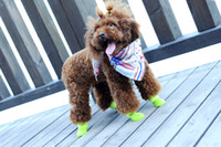 Wholesale Free shiping Waterproof boots Dog s Pet Shoes Style Soft and Warm Velcro Denim Boots for Dogs WY148