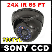Wholesale 24 Blue IR LED tvl SONY Super HAD CCD CCTV Security Vandal Dome Camera Outdoor Waterproof Good Night Vision In Grey