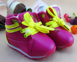 Wholesale 30 off COLOR Purple soft bottom toddler shoes yard medium waist warm boots Lace wool boots baby wear sale cheap china pair WW