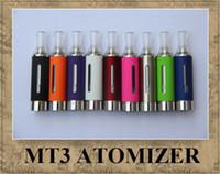 MT3 Evod ATOMIZER EGO clearomizer COLORFUL cartomizer BCC ECVV ÉLECTRONIQUE MATH cigarette EGO-T EGO-W TWIST