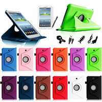Wholesale 360 Stand Case For Samsung Galaxy Tab P3200 P3210 inch Tablet SM T210 Rotating Leather Case Cover