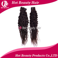 Wholesale Indian human Hair weft Deep Wave Curly hair Extensions Color b