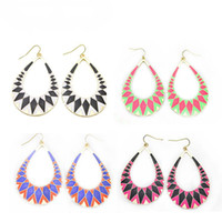 Wholesale Mixed Colors Bohemia Retro Personality Drip Drop Earrings Girl Gift Dangle Charm Chandelier Fashion Jewelry pairs Y E054