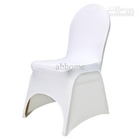 Wholesale white spandex banquet chair cover with an arch on feet for hotel party wedding