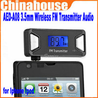 Wholesale New Product AED A08 mm Wireless FM Transmitter Audio for Iphone Ipod