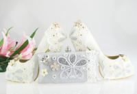 Women women dress shoes - White Wedding Shoes high heel Satin Wedding pumps designer shoes women dress shoes lace shoes with Matching Clutch Bag