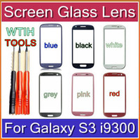Wholesale CHpost New Outer Replacement Screen Glass Lens for Samsung Galaxy S3 i9300 White