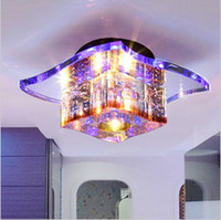 Wholesale Modern LED Crystal Ceiling Lights Fashion Lighting Fixtures Glass Hallway Lamp CL082