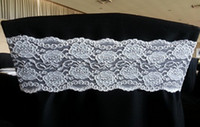 Wholesale lace spandex chair band for weddings