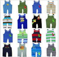 Unisex Summer 100% Cotton Baby Rompers Multicolor Sleeveless Baby Romper Baby One-pieces Bodysuit Boys and Girls Rompers Baby Summer Clothing G-164