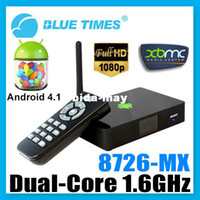 Wholesale Bluetimes Dual Core Android XBMC WiFi p Media Center Player Mini PC TV Box HTPC AMLogic MX M6