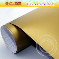 Wholesale Matt Gold Vinyl Car Wrap Film Auto Body Sticker Decoration Car Film Size x3000cm With Air Free Bubbles By Fedex
