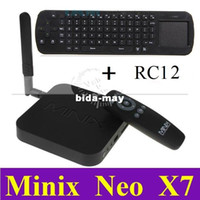 Wholesale Free RC12 MINIX NEO X7 Quad Core TV Set Top Box RK3188 Cortex A9 CPU GB GB Android Wifi Antenna BT Free