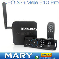 Wholesale Free Mele F10 Pro Air Mouse RK3188 MINIX NEO X7 Quad core android tv box android media player builit in bluetooth GHz