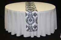 Wholesale damask flocking table runner