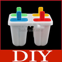 Baking & Pastry Tools   DIY Ice Cream Frozen 4Pcs Popsicle Maker Mold Icepop Block Icy Pole Lolly Set