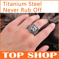 Men's All Occasions Titanium Steel Fashion Jewelry Titanium Steel Ring Modelling of the lion USA SIZE #8 #9 #10 #11 #12 Retro Rings For Man