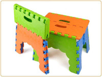 plastic folding chairs - Style portable travel leisure chairs thickened children small plastic folding stool fishing Bench