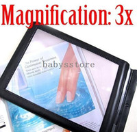 Wholesale BIG A4 Full Page x Magnifier Sheet LARGE Magnifying Glass Book Reading Aid Lens