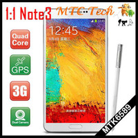 Wholesale New N9000 note phoneMTK6589T quad core G RAM MP camera Android WIFI cell phone