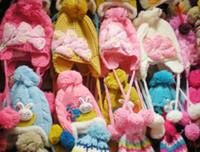 Wholesale 2015 winter girls rithinstone Crochet Hat Handmade Beanie Knitted hat