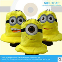 Wholesale Colorful Despicable Me Hat Plush Minion Hats Jorge Cosplay Cap Despicable Minion Plush Hat styles DHL