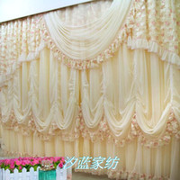 Wholesale Fancy sitting room atmosphere lace curtain curtain Korean princess bedroom curtains