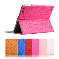 Wholesale Cute Lovely Cartoon Design Magic Girl Smart Cover Stand Case Cover for new iPad iPad iPad Colors Option