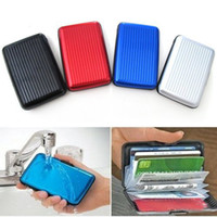 Wholesale Aluminium Credit card wallet cases card holder bank case aluminum wallet with white box