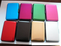Wholesale 1000pcs Aluminium Credit card wallet cases card holder bank case aluminum wallet with white box
