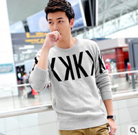 Wholesale Autumn Winter new style men s fashion men s cotton round neck long sleeved sweater thick warm sweater