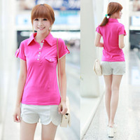 Men Polo Short Sleeve ( 10 from the grant ) BON547 ( Photos ) summer short-sleeved shirt Slim Korean ladies hit the color POLO shirt