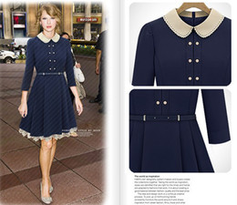 Wholesale Fashion Elegant Lady Dress Woman British Style Temperament Coummute Dress S M L XL
