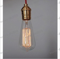Wholesale LLFA2777 Antique Vintage Edison light Bulb W V radiolight T64 Squirrel cage
