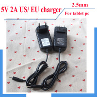 Wholesale DHL US EU Wall charger AC Adaptor for Travel V A mm Plug for quot Quad core Tablet pc VIA A13 A20 Flytouch Power supply