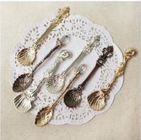 Wholesale Classic European Palace Style Retro Coffee Spoon MINI Steel Teaspoon Dinnerware Sets SH103