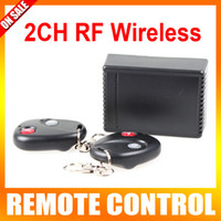 Wholesale 2CH RF Wireless Garage Gate Door Receiver Remote Control Color Black