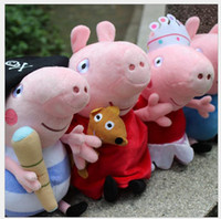 Wholesale 20CM Baby Toys Pepe Pig Plush Toys Peppa Pig amp George Pig Pink Cartoon Stuffed Plush Cute Kids Toddler Toy Small Size T
