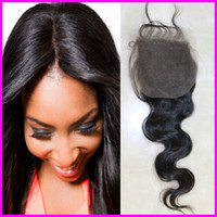 Wholesale Manka Hair natural color Lace Closure Brazilian body wave Virgin Hair quot x4 quot inch inch