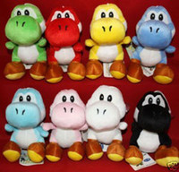 Wholesale super mario bros light blue yoshi quot soft plush doll retail