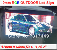 Wholesale P10 LED SIGN OUTDOOR cm x cm quot x quot FRONT OPEN RGB LED MOVING FULL COLOR SCROLLING PROGRAMMABLE DISPLAY SIGN BOARD