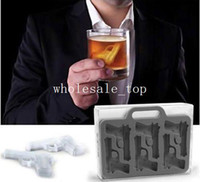 Wholesale 1x Gun Freeze Party Ice Mould Jelly Chocolate Mold Cube Cake Cookies Maker Tray