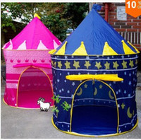 Wholesale New Sunmmer Childern kids Playing Indoor amp Outdoor Pink amp Blue Palace Play Game Tent Castle Kids Toy
