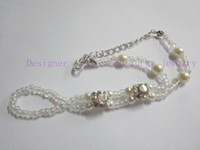 Wholesale baby barefoot sandals baby anklet stretch anklet with tor ring pair drop ship