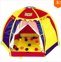 Wholesale New Arrival Free Shippig Childern Light Yellow Yurts In amp Outdoor Pop Up House Kids Play Game Kids Tent Toy