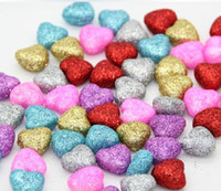 Wholesale 100pcs cm foam heart decoration without handle for candy box accessory bed decoration wedding Party favor